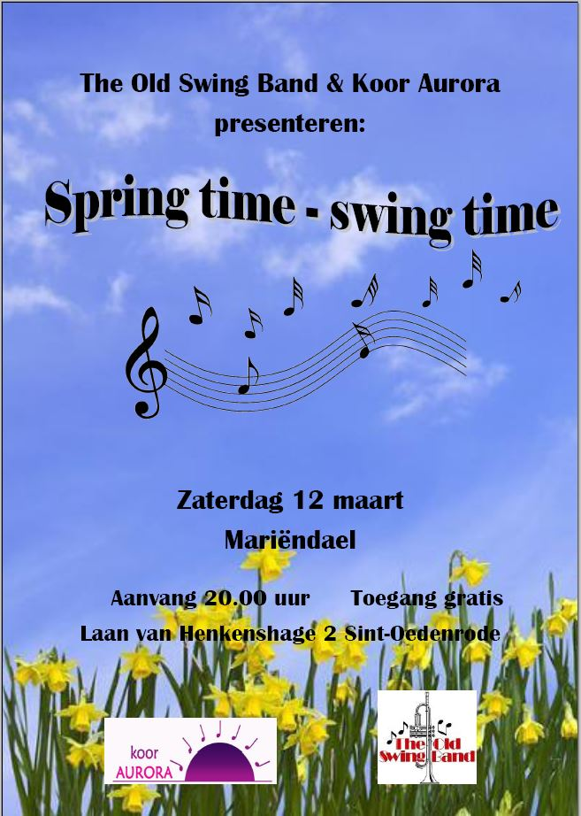 Aankondiging/flyer van concert 3maart16